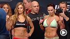 Watch the official weigh-in for UFC 184: Rousey vs. Zingano, live Friday, February 27 at 7pm/4pm ETPT.