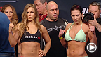 Watch the official weigh-in for UFC 184: Rousey vs. Zingano, live Saturday, February 28 at 1am CET.