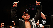 Brazilian jiu-jitsu specialist Gleison Tibau uses his submission game to sink in a guillotine choke on John Cholish in the second round. Tibau battles Tony Ferguson on the main card at UFC 184 in Los Angeles, California.