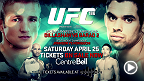 Bantamweight champ TJ Dillashaw and former champ Renan Barao look to have their highly anticipated rematch while flyweight champ Demetrious Johnson looks to defend his title against Kyoji Horiguchi in Montreal at UFC 186. Tickets are on sale now!