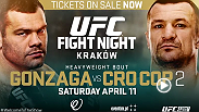 Heavyweight legend Mirko Cro Cop looks to avenge his loss to Gabriel Gonzaga at UFC Fight Night Krakow. Tickets are on sale now!