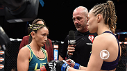 The Ultimate Fighter finalists Carla Esparza and Rose Namajunas fight for the UFC women's strawweight title in Las Vegas. Esparza plans to make her first title defense against top contender Joanna Jedrzejczyk at UFC 185 in Dallas, Texas.