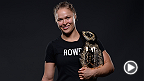 UFC women's bantamweight champion Ronda Rousey discusses yet another dominating win, this time over Cat Zingano with Megan Olivi backstage at UFC 184.