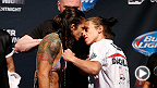 No. 1 women's strawweight contender Joanna Jedrzejczyk debuts her skills against Juliana Lima inside the Octagon. Joanna takes on Carla Esparza for the women's strawweight title in the co-main event at UFC 185 in Dallas, Texas.
