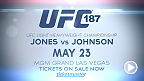 Two explosive title fights are set for UFC 187 as light heavyweight champ Jon Jones takes on Anthony Johnson and middleweight champ Chris Weidman looks to defend his belt against Vitor Belfort. Tickets go on sale Friday!