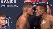 Watch the official weigh-in for UFC 185: Pettis vs. Dos Anjos live Friday, March 13 at 9pm GMT.