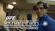 "Powered by Alienware, Anthony ""Showtime"" Pettis gets camera-ready at his local barber before heading to Dallas. In California, the start of fight week means family time as Carla Esparza and Rafael Dos Anjos connect with loved ones."