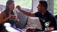 UFC lightweight Rafael dos Anjos and his wife Cristiane talk about how they met and what a big part his family plays in his fighting career.
