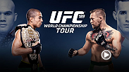 Watch the UFC 189 World Tour press conference featuring featherweight champ Jose Aldo and top contender Conor McGregor.