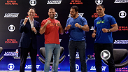 "Watch the highlights from the Ultimate Fighter Brazil Season 4 introductory press conference, featuring legendary coaches Shogun Rua and Rodrigo ""Minotauro"" Nogueira from Rio de Janeiro, Brazil."