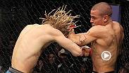 "Featherweight contender Dustin ""The Diamond"" Poirier uses his go-to move against Jonathan Brookins and locks in the D'Arce choke, earning himself a submission victory. Poirier takes on Diego Ferreira at UFC Fight Night Fairfax."