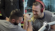 UFC featherweight No. 1 title contender Conor McGregor stopped by Power 106 in Los Angeles on the L.A. leg of the UFC 189 World Championship Tour and got in a little arm wrestling action.