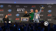 Watch the UFC 189 World Tour press conference in Dublin, Ireland, live Tuesday, March 31 at 6pm GMT.