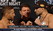 Watch the official weigh-in for UFC Fight Night: Mendes vs. Lamas