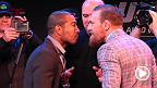 Another stop on the UFC 189 Championship World Tour, and another staredown. Watch as champion Jose Aldo and challenger Conor McGregor go face-to-face in Boston.
