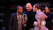 UFC correspondent Megan Olivi recaps the day in Boston, including the press conference from The Strand Theatre, where things got intense once again between challenger Conor McGregor and champion Jose Aldo.