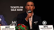 UFC superstars Jose Aldo, Conor McGregor, Robbie Lawler, and Rory MacDonald make noise in Toronto, Canada. Check out the press conference recap and staredown between the fighters.