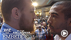 Jose Aldo and Conor McGregor take over chilly Toronto. As Aldo's patience for McGregor's trash talk wears thin, Dana White is forced to play peacemaker on set, on stage and behind the scenes. Tickets for UFC 189 are now on sale at UFCFIGHTWEEK.com.