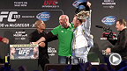 UFC correspondent Megan Olivi catches up with UFC president Dana White, Jose Aldo and Conor McGregor after the Dublin press conference to get their overall thoughts on the UFC 189 World Championship Tour.