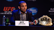 UFC featherweight champion Jose Aldo gives his thoughts and prediction to UFC correspondent Megan Olivi in regards to the featherweight main event at Fight Night Fairfax between Chad Mendes and Ricardo Lamas.