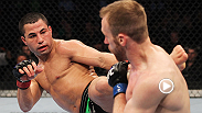 Lightweight John Makdessi uses his diverse striking techniques as he fakes a kick and lands a spinning backfist on Kyle Watson, earning himself a knockout victory in the third round. Makdessi takes on newcomer Shane Campbell at UFC 186 in Montreal.