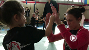 UFC fighters Joanna Jedrzejczyk and Ross Pearson, along with Hall of Famer Forrest Griffin took time to visit the Hajime Jiu-Jitsu School in Krakow to teach young children some basic MMA techniques. UFC Fight Night: Gonzaga vs. Cro Cop 2 is live April 11.
