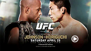 UFC flyweight champion Demetrious Johnson will put his title on the line for the sixth time when he faces rising star Kyoji Horiguchi in the main event. Plus UFC veteran Michael Bisping challenges C.B. Dollaway.