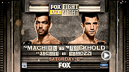 Middleweight contenders Luke Rockhold and Lyoto Machida will do battle at Fight Night New Jersey for a potential future title shot, while another 185-pound contender, Jacare Souza, looks to strengthen his case for a title shot.