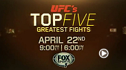 Relive the 5 most epic match-ups that captivated audiences and made combat sports history. Through original interviews, viewers will get the inside perspective from the fighters involved. The show premieres tonight on FOX Sports 1 at 9pm/6pm ETPT.