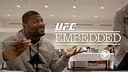 Demetrious Johnson and Michael Bisping are the first to land in Montreal, while CB Dollaway is delayed. Kyoji Horiguchi passes time by enjoying the outdoors vicariously. Rampage Jackson makes it to the hotel just 24 hours after having his fight rebooked.