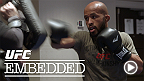 Demetrious Johnson gets in late-night workout alongside Rampage Jackson. Michael Bisping polishes his French and goes grocery shopping. Then all three are off to Media Day where they face off against Kyoji Horiguchi, Fabio Maldonado and CB Dollaway.
