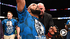 UFC flyweight champion Demetrious Johnson discussed his historic victory over Kyoji Horiguchi at UFC 186 with Joe Rogan inside the Octagon after the fight.