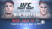 The UFC heads to the Valley View Casino Center in San Diego, California for an action-packed card headlined by dangerous heavyweights Frank Mir and Todd Duffee. Tickets go on sale May 15!