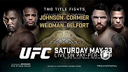 Take a deeper look into the two UFC 187 title fights. Daniel Cormier faces Anthony Johnson for the vacant UFC light heavyweight title, and the iconic Vitor Belfort takes one last shot at glory when he meets UFC middleweight champ CHris Weidman.