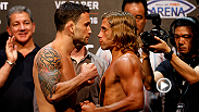 Check out the main event weigh-in highlights for UFC Fight Night: Edgar vs. Faber in Manila, Philippines.