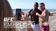 UFC middleweight champ Chris Weidman stays humble at home with dad duties. Light heavyweight Anthony Johnson and middleweight Vitor Belfort share one last team workout on the beach. Daniel Cormier trains for his second shot at the light heavyweight title.