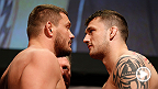 No. 12 heavyweight contender Matt Mitrione handles business inside the Octagon in 19 seconds by knocking out Phil De Fries in the very first round. Mitrione takes on Ben Rothwell in the co-main event at UFC Fight Night in New Orleans, Louisiana.
