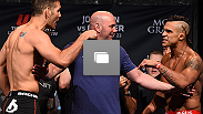 UFC 187 weigh-in at the MGM Grand Conference Center on May 22, 2015 in Las Vegas, Nevada. (Zuffa LLC/Zuffa LLC via Getty Images)
