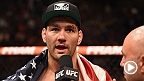 "UFC middleweight champion Chris ""The All-American"" Weidman talks to Joe Rogan inside the Octagon after his fight with Vitor Belfort at UFC 187 in Las Vegas. Belfort also chats with Rogan to give his thoughts on the fight."