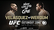 Reigning UFC heavyweight champ Cain Velasquez looks to hold on to his crown as interim heavyweight champ Fabricio Werdum aims to become the undispusted title holder when they face each other at UFC 188 in Mexico City, Mexico.