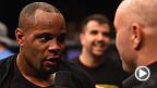 "The new light heavyweight champion Daniel ""DC"" Cormier talks to Joe Rogan inside the Octagon after his submission victory over Anthony Johnson, and throws in a little message for the former champ. Johnson gives his thoughts on the fight as well."