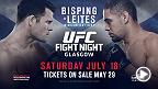 "The UFC heads to Glasgow, Scotland for a main event middleweight matchup between England's Michael ""The Count"" Bisping and Brazil's Thales Leites taking place at the Hydro Arena. Tickets go on sale May 29!"