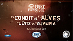 Carlos Condit faces Thiago Alves in the main event of Fight Night Goiania this Saturday night. Don't miss all the action starting on UFC FIGHT PASS at 7pm/4pm ETPT, Fight Network and RDS 2 at 8pm/5pm and then on TSN 2 & 5 and RDS 2 at 10pm/7pm ETPT.