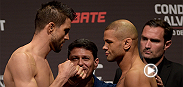 Watch the Fight Night Goiania weigh-in highlight featuring the staredown between Carlos Condit and Thiago Alves.