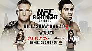 Bantamweight champion TJ Dillashaw takes on long awaited rival and former champ Renan Barao for the title in the main event at UFC Fight Night in Chicago. Tickets are on sale now!