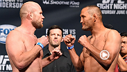 Middleweights Tim Boetsch and Dan Henderson square off at the weigh-in for Fight Night New Orleans. Check out the highlights.