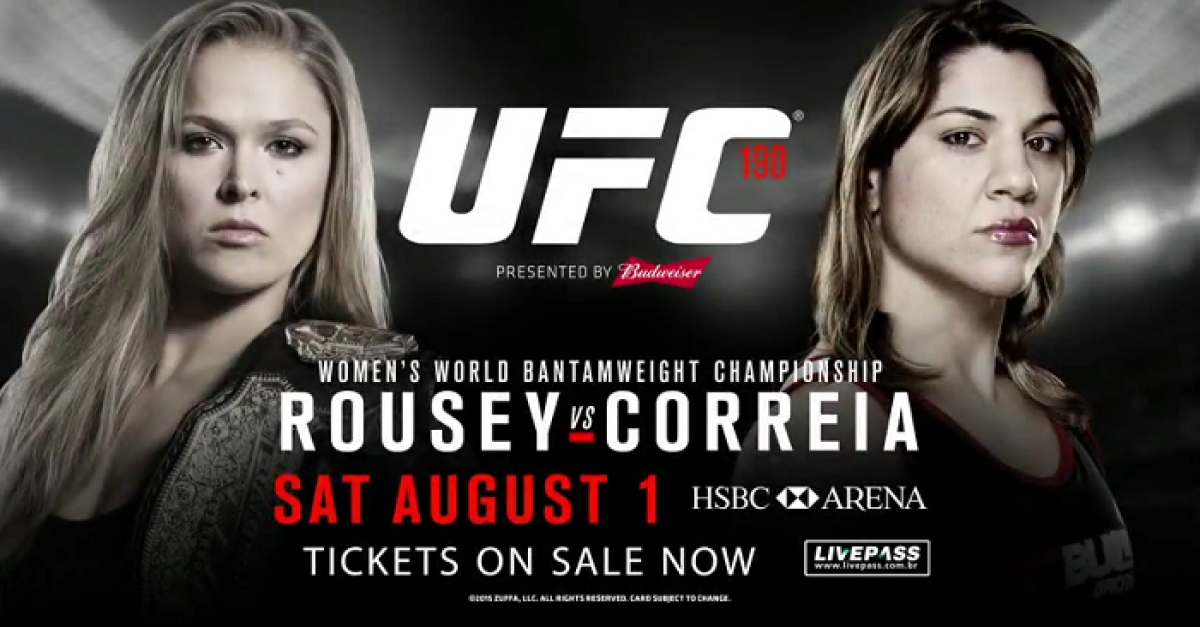 bovado.lv ufc 190 fight schedule