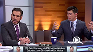 FOX Sports analysts Kenny Florian and Dominick Cruz talk about the interesting matchup between UFC heavyweight champion Cain Velasquez and Fabricio Werdum at UFC 188. Specifically, they talk about Velaquez's wrestling vs. Werdum's BJJ.