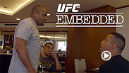 Cain Velasquez and Fabricio Werdum pump up their fans at open workouts. The tension between the two continues to build, and Velasquez's teammates Daniel Cormier and Luke Rockhold only fuel the fire.