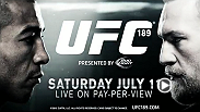 Top featherweight contender Conor McGregor has constantly taunted reigning featherweight champion Jose Aldo outside the Octagon. They will settle their differences inside the Octagon at UFC 189 in Las Vegas and see who truly rules the world.